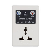 Professional UK/EU 220V Phone RC Remote Wireless Control Smart Switch GSM Socket Power Plug for Home Household Appliance(China)
