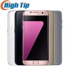 Entsperrt Original Samsung Galaxy S7 rand G935F/G935V 4GB RAM 32GB ROM Quad Core 5,5 zoll WIFI GPS 12MP 4G LTE Handy