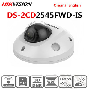 Hikvision versión en inglés micrófono incorporado 4 MP IR fijo Mini domo IP Cámara DS-2CD2545FWD-IS reemplazar DS-2CD2542FWD-IS