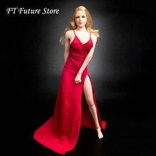 TYM067 в наличии 1/6 весы сексуальные женские рисунок аксессуар вечернее платье красная юбка одежда для 12''Action рисунок средства ухода за кожей