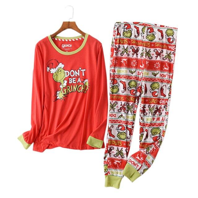 Heißer verkauf Weihnachten Frauen pyjamas Plus größe winter stricken baumwolle pyjama sets frauen Frische grün langarm casual nachtwäsche frauen