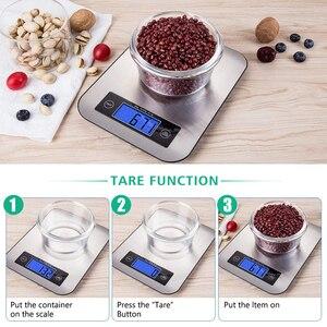 Image 4 - AIRMSEN 22LB/10KG אלקטרוני מטבח בקנה מידה מזון דיגיטלי נירוסטה ביתי במשקל בקנה מידה LCD מדידת כלים