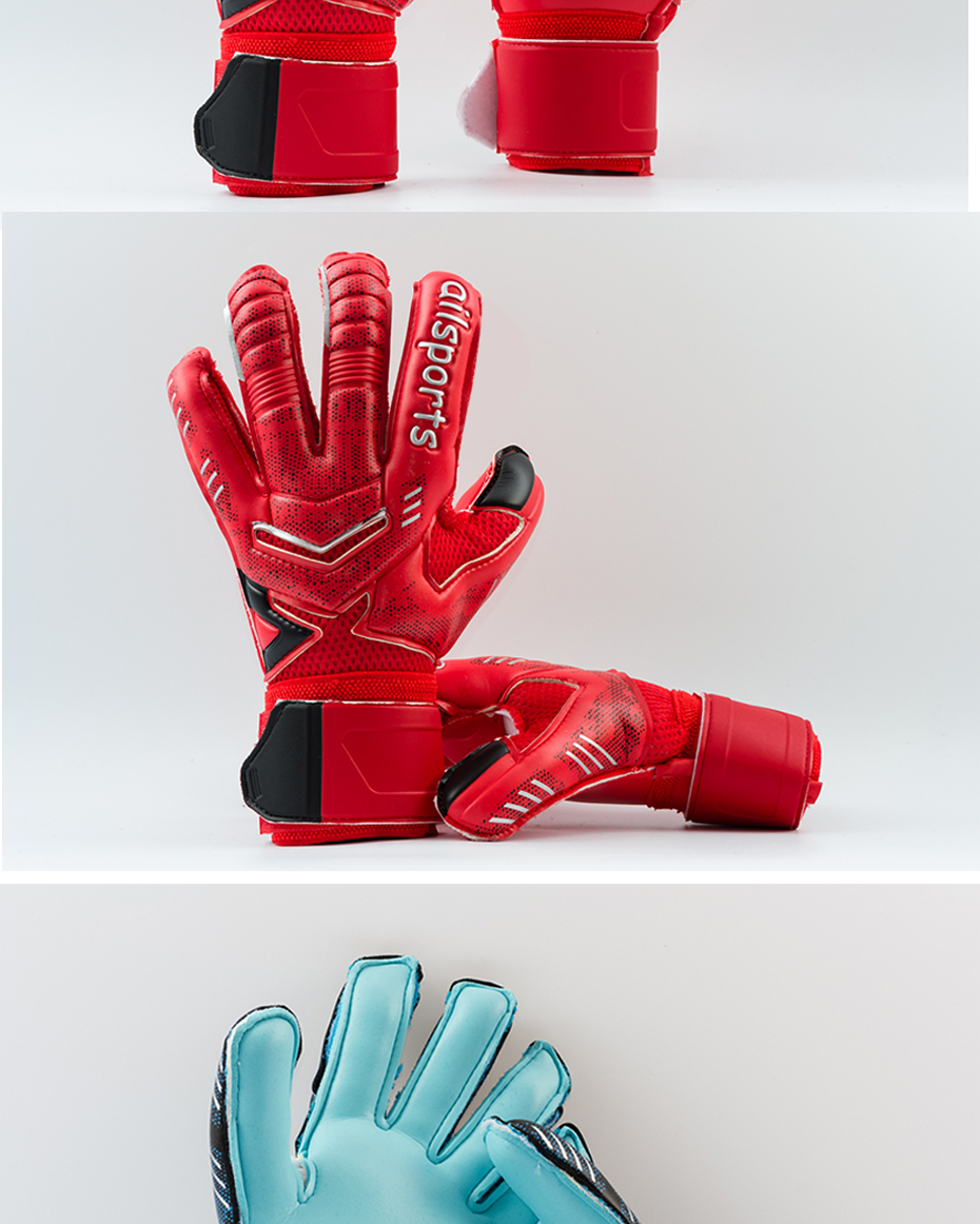 Professional Goalkeeper Gloves With Finger Protection 17