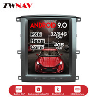PX6 4+64 Tesla style Android 9.0 Car dvd Multimedia Player unit for Toyota land cruiser lc100 2002 2007 GPS Navigation Autoradio