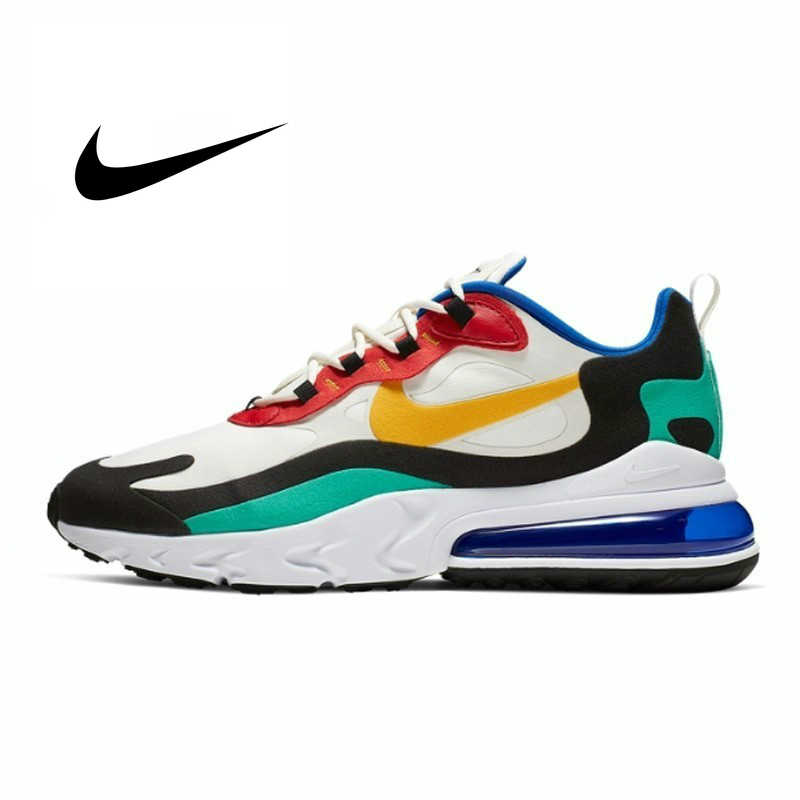 Nike Air Max 270 React Man Running Shoes Breathable Sports Sneakers Anti slip Outdoor Sneakers NEW ARRIVAL AO4971 002