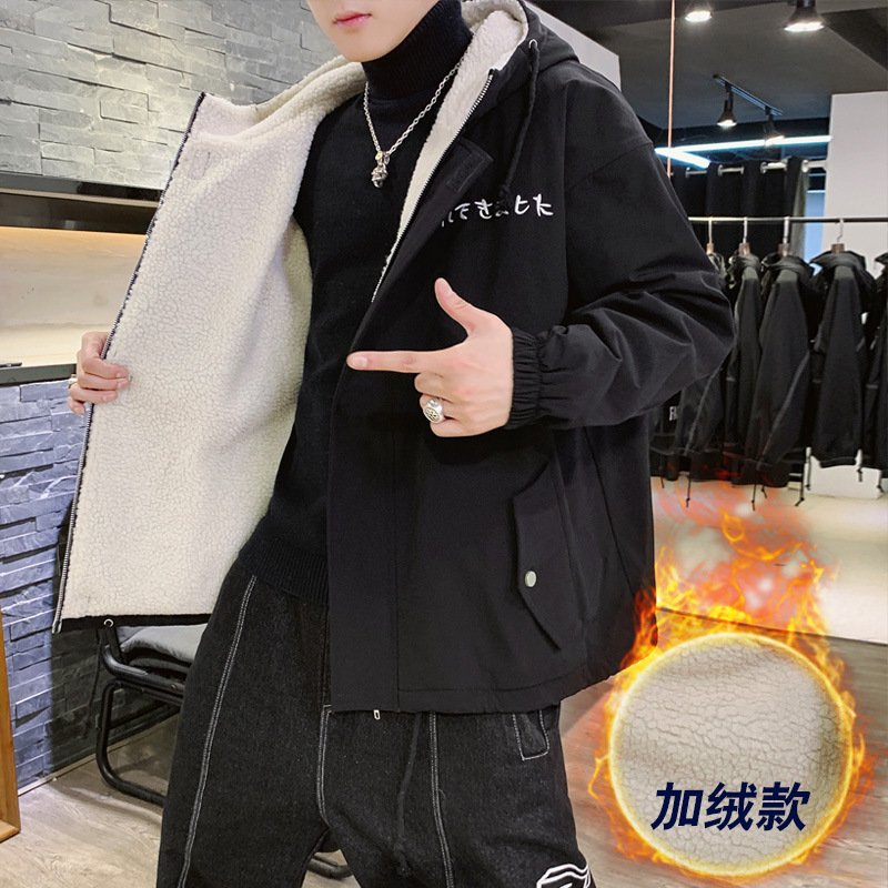 Velvet thick Hooded men 39 s winter military jacket big size loose warm masculine street overalls bomber pilot jackets coats anorak in Jackets from Men 39 s Clothing