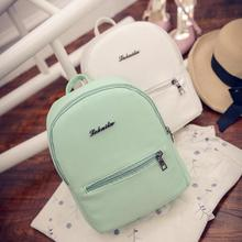 Mini shoulder bag high quality PU leather fashion girl candy color small backpack women mini back pack