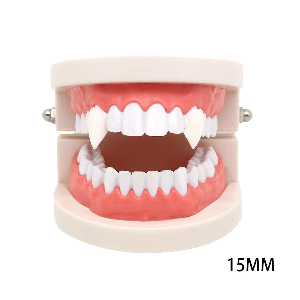 2 шт Косплей на Хэллоуин зубные протезы зомби вампира зубы привидение-дьявол клыки оборотень зубы коробка упакованы подарок реквизит костюм вечерние игрушки для детей