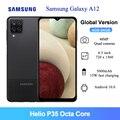 Globale Version Samsung Galaxy A12 Handy 64GB 4GB RAM 6,5 Zoll Helio P35 Octa Core 48MP AI quad Kameras 5000mAh Handy