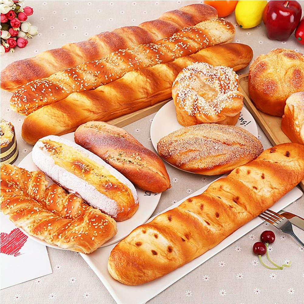 Enfeites de pão falso artificial, artesanato de bolo, padaria, crianças, brinquedo de cozinha, rosquinhas, modelo de simulação
