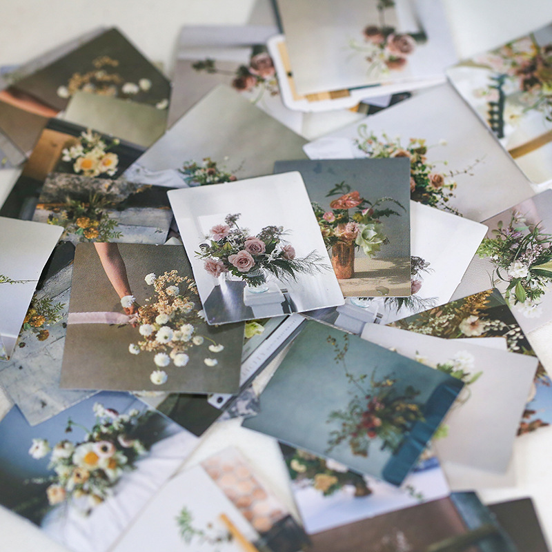 Mohamm 45 PCS Boxed Stickers Life Style Series Ins Scenery Book Flower Decoration Sticker Flakes Scrapbooking Gift Girl School S