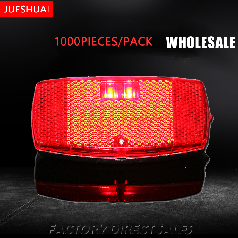 Factory Direct Sales 1000pcs/pack Bicycle Cycling Lights Taillights Rear Lamp Led Mountain Bike Mtb Rear Rack Light Tail-lamp
