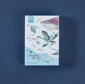 L180- Water World Paper Greeting Card Lomo Card(1pack=28pieces)