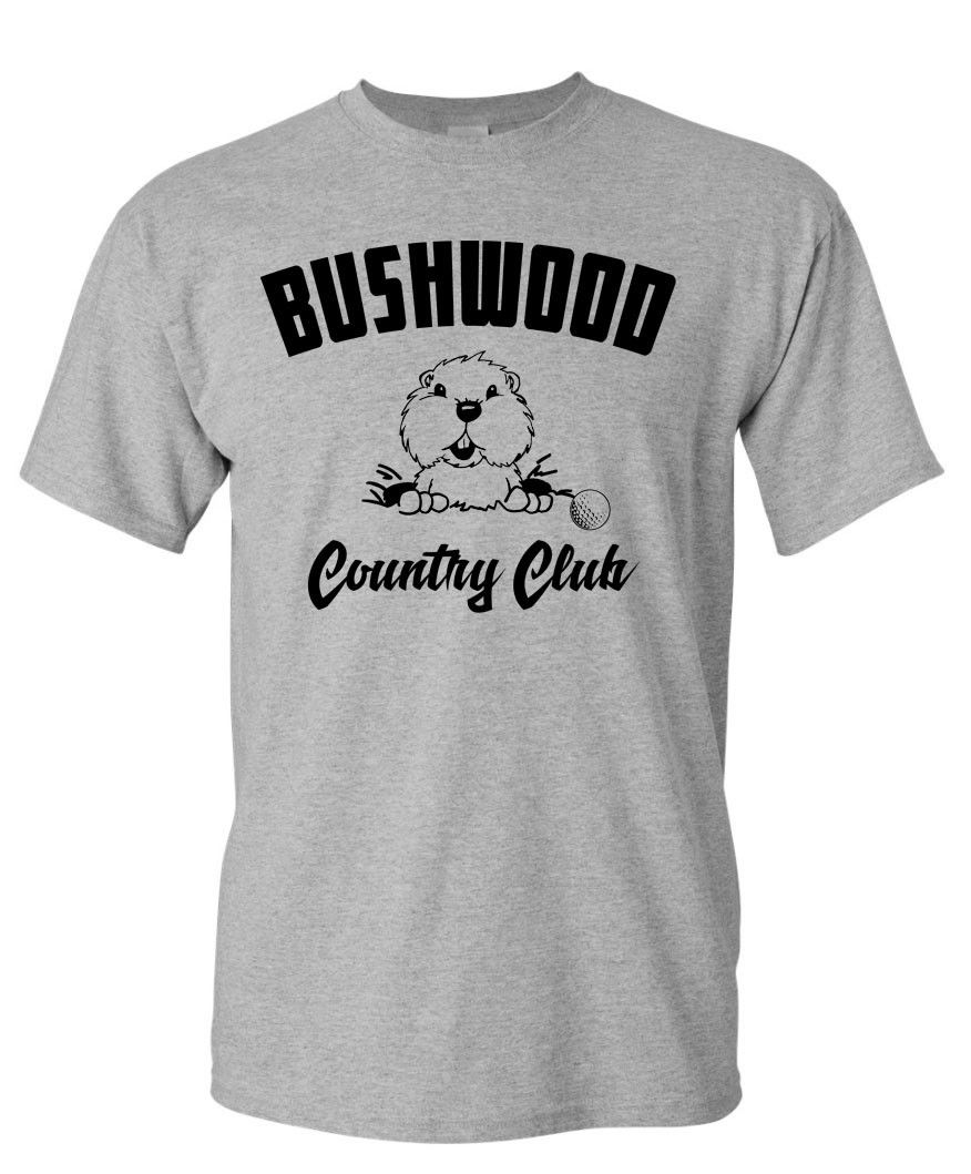 Bushwood Country Club T-SHIRT - Golf Caddy Shack 80's Movie Short Sleeve Tee Shirt Free Shipping cheap wholesale image