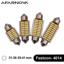 Afarnova 2 x Festoon C5W C10W Car LED 4014 SMD 31mm 36mm 39mm 42mm Canbus Error Free Interior Dome Read License plate Map Bulbs(China)