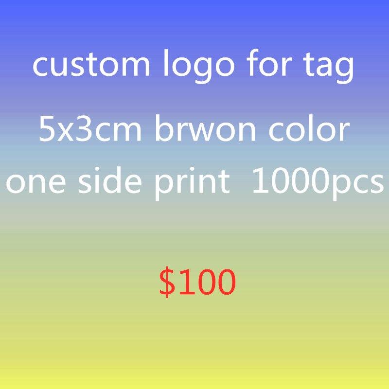 Logo personnalisé 1000 pièces papier brun logo impression étiquette 5x3cm étiquette impression colorée cadeaux étiquette volante étiquette personnalisée doit moq 1000 pièces livraison gratuite