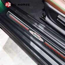 Порог Добро пожаловать пластина педаль Подножка протектор Наклейка из углеродного волокна Стайлинг чехол для MINI Cooper Countryman F60 аксессуары