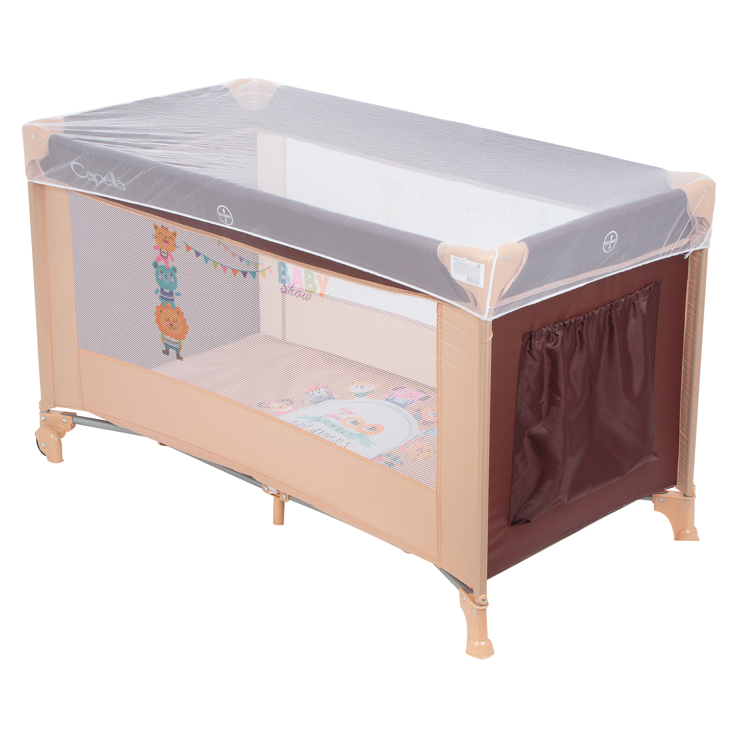 Baby Playpens Capella SWEET TIME choir playpen for baby for boys and girls for newborns Beige Fabric цены