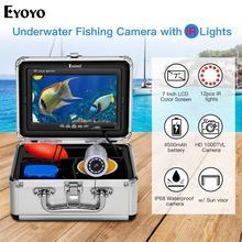 Eyoyo EF07S 30M Fish Finder underwater ice fishing camera 7 inch 1000TVL IR Video Underwater Camera 12PCS Infrared Lamp Fish Cam