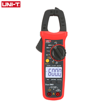 UNI T UNI-T  UT202A+ UT204+ Digital AC DC Current Clamp Meter Multimeter True RMS 400-600A Auto Range Voltmeter Resistance Test aimometer ms2108 600a 600v ac dc 6600 counts true rms digital clamp meter multimeter auto range with backlight worklight