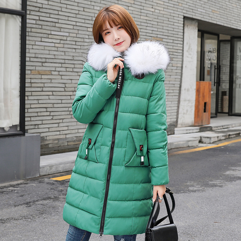 2019 Women Winter Jacket Arrival With Fur Collar Hooded Long Coat Cotton Padded Warm Parka Plus Size 7XL Womens Parkas