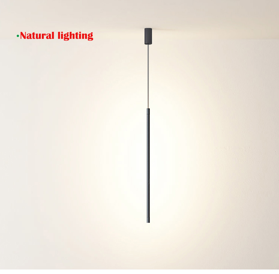 Nordic simples led longo pendurado linha lustre