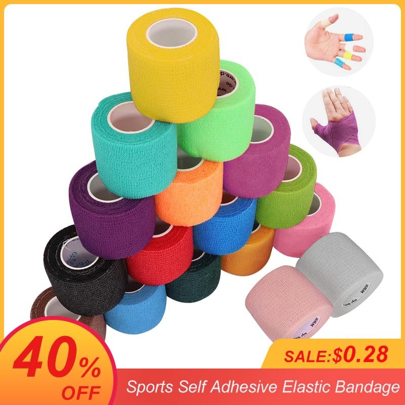 4.5m kolorowe sportowe siebie przylepny bandaż elastyczny taśma do owijania Elastoplast dla ochraniacze kolan palec kostki dłoni na ramię