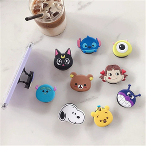 Image 5 - Universal socket phone Stand bracket Expanding Stand stretch grip phone Holder Finger Cute cartoon stand for iphone 7 8 X XS XR