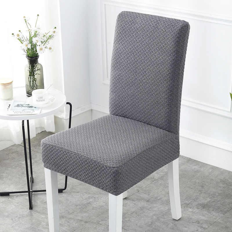S/M/L Super suave tejido Jacquard a corto plazo elástico cubierta elástica para silla de Spandex silla de asiento para/comedor/cocina 1/4/6/pc