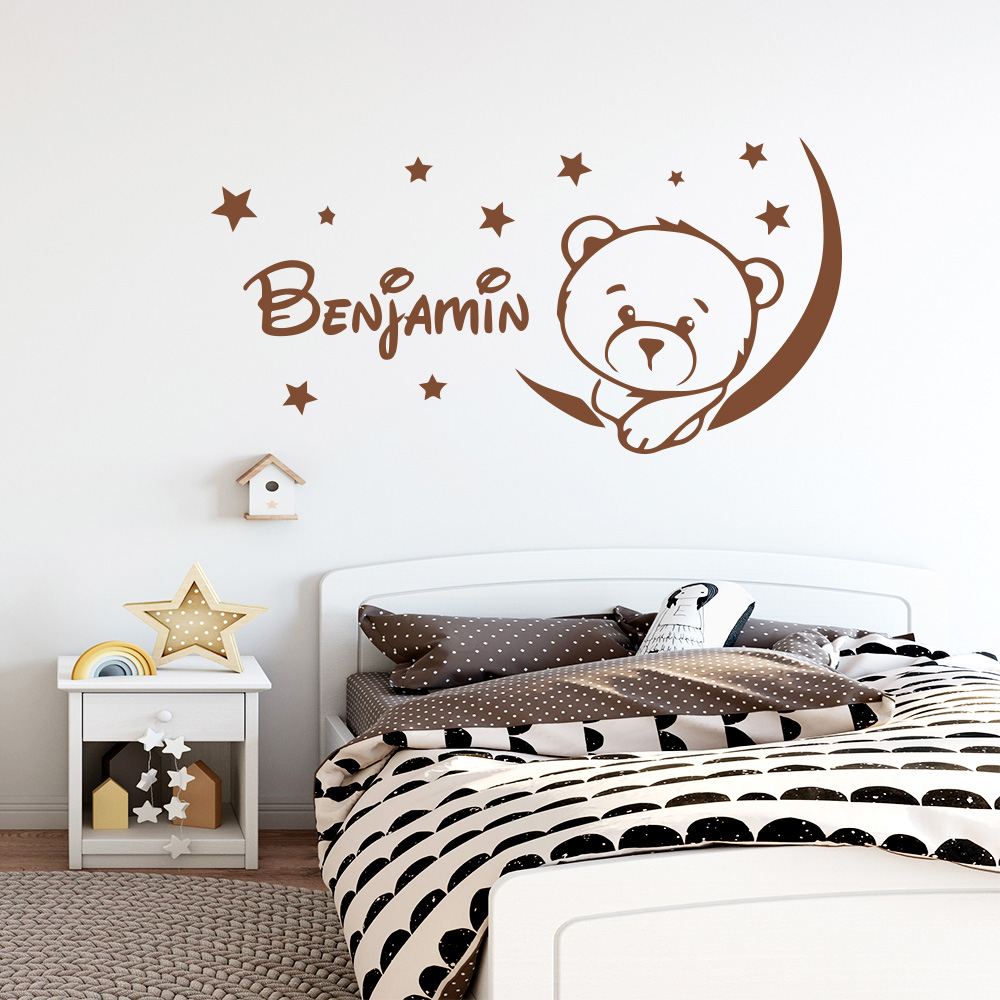 Image 3 - Cartoon Personalized Custom Name Mickey Mouse Wall Sticker Decals Murals Poster For Kids Babys Room Decoration Bedroom Decor-in Wall Stickers from Home & Garden
