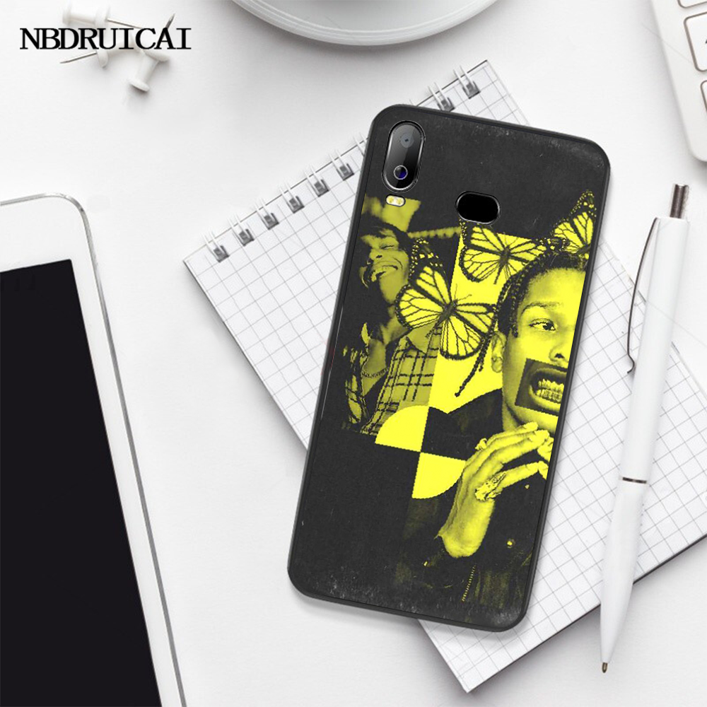 Nbdruicaiロッキーテストラップヒップホップdiy塗装ブリンブリン電話ケースA10 A20 A30 A40 A50 A70 A7 a9 A6 A8 プラス 2018