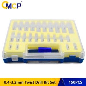 Image 1 - 150 PCS HSS Twist Drill Bit Size 0.4mm 3.2mm Metalworking Drill Bit Set Round Shank Mini Drill Bit