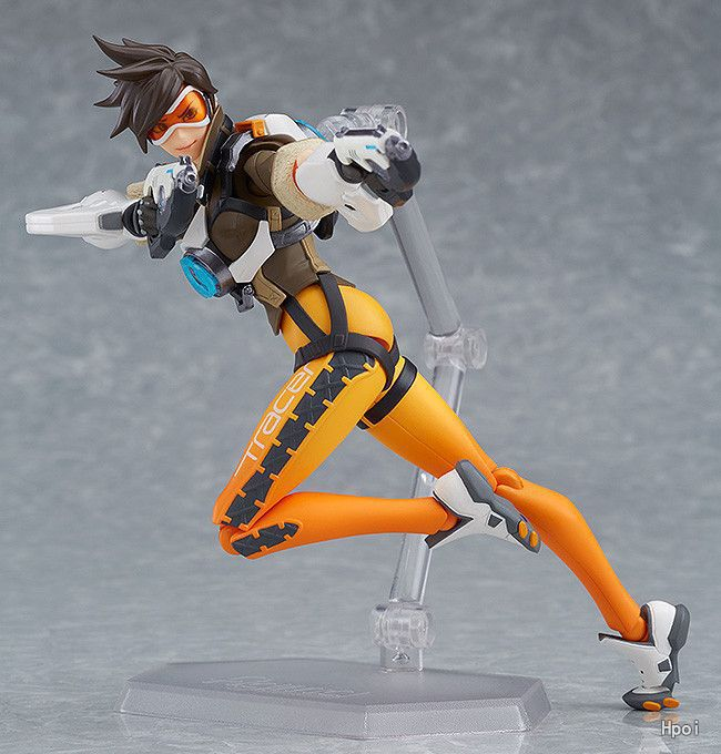 In Stock 15cm Overwatcher 393 # Grim Reaper 352 Tracer PVC Action Figure Movable collection toy gifts Doll 3