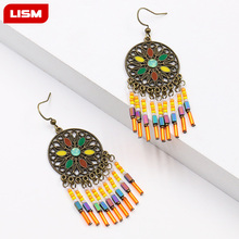 Multiple Vintage Ethnic Dangle Drop Earrings for Women Female Anniversary Bridal Party Wedding Jewelry Ornaments Accessories creative long statement dangle drop earrings for women female anniversary bridal party wedding jewelry ornaments accessories