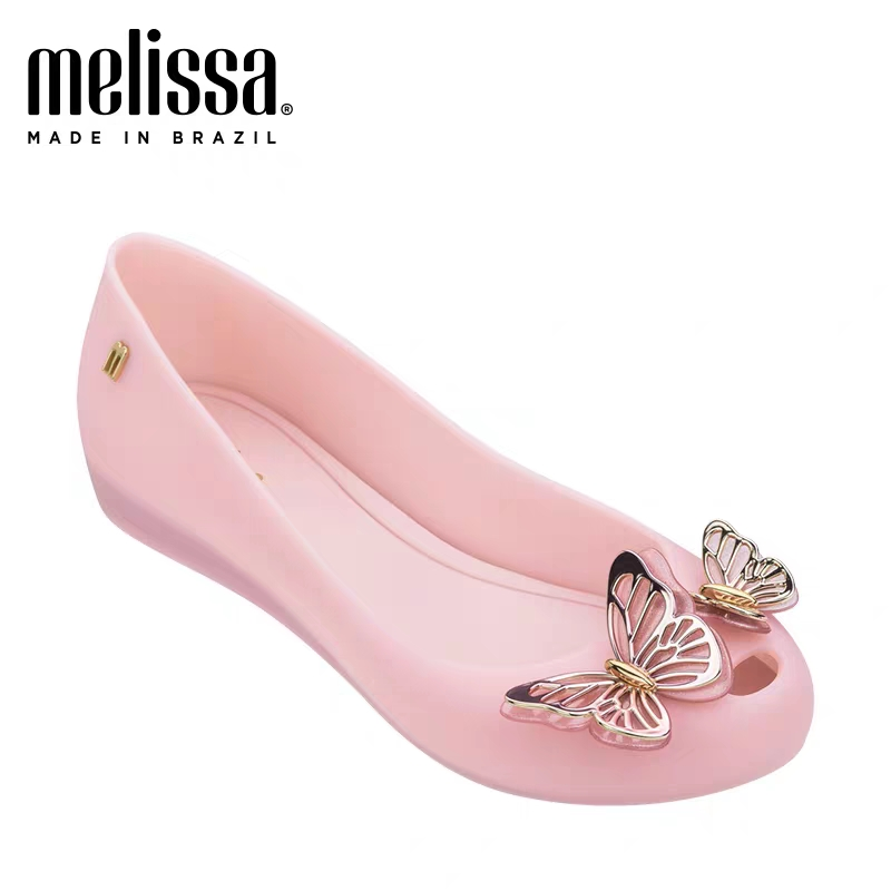 Mini Melissa Ultragirl Fly Girl Jelly Shoes Sandals 2020 NEW Baby Shoes Soft Bottom Melissa Sandals For Kids Non-slip Princess