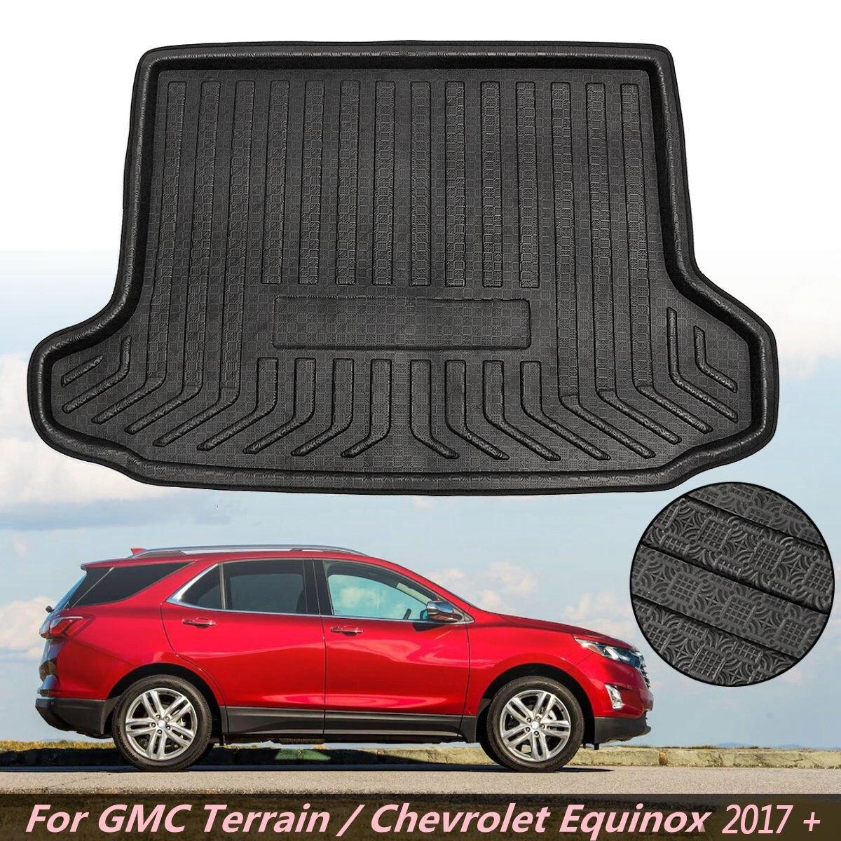 Cargo Liner Rear Trunk Mat For GMC Terrain For Chevrolet Equinox 2017 Up Floor Tray Carpet Mud Pad Kick Guard Anti Slip Mat