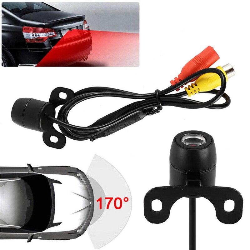 YuanTing Универсальный Автомобильный 170 градусов широкий угол заднего вида резервная парковочная камера Обратный Водонепроницаемый CCD руководство ВКЛ/ВЫКЛ