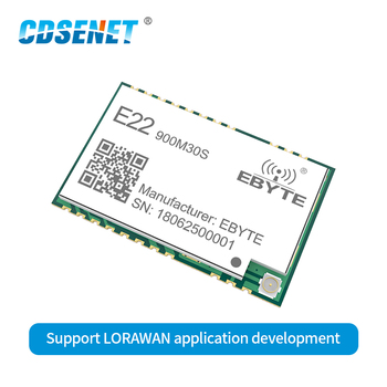 E22-900M30S SX1262 беспроводной приемопередатчик LoRa модуль 30dBm 915 МГц SMD отверстие для штампа IPEX 850-930 МГц TCXO радиочастотный передатчик приемник