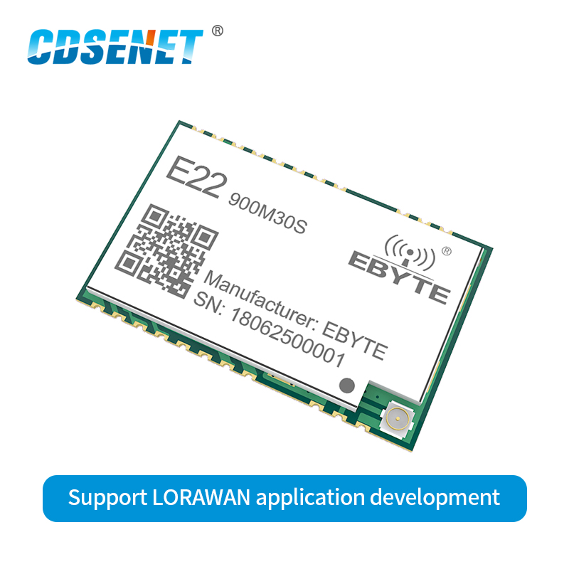 E22-900M30S SX1262 Wireless Transceiver LoRa Module 30dBm 915MHz SMD Stamp Hole IPEX 850-930MHz TCXO Rf Transmitter Receiver