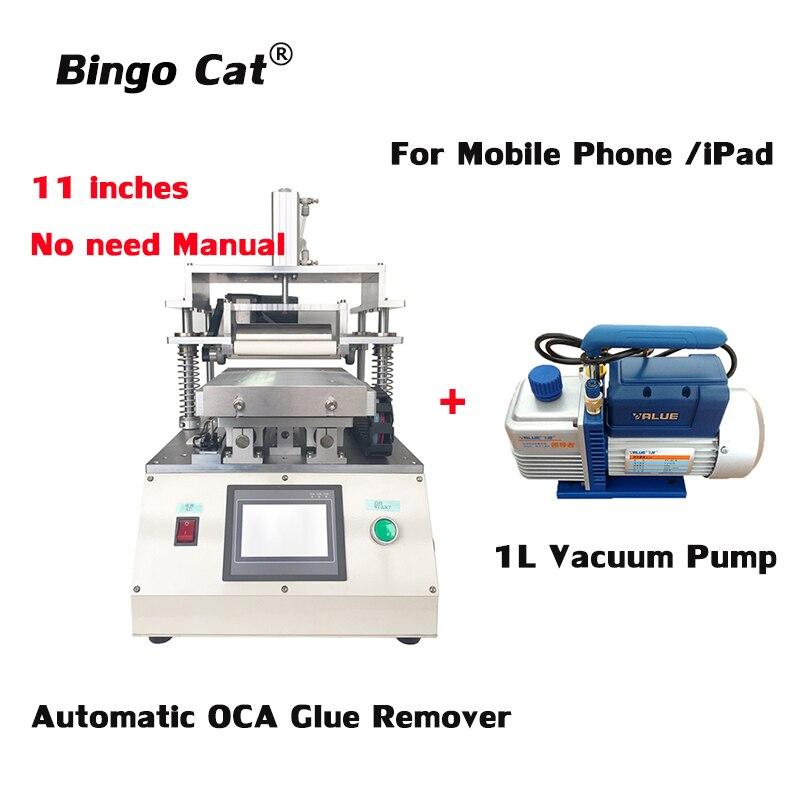 11 inch Automatic OCA Glue Removing Machine for iPhone lg Huawei Xiami Tablet iPad LCD Screen Repair Refurbish with 1L Pump