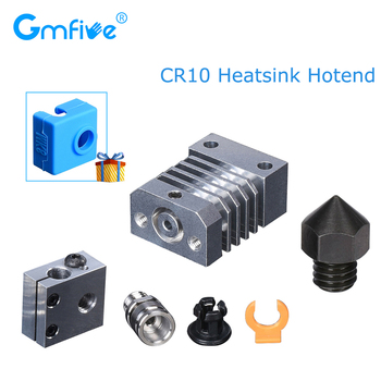 GmFive CR10 Hotend All Metal For Cr 10 Ender 3 MK8 Nozzle CR10 Heatsink Hotend Extruder Titanium Heat Break 3D Printer Parts mellow all metal nf crazy hotend v6 copper nozzle for ender 3 cr10 prusa i3 mk3s alfawise titan bmg extruder 3d printer parts