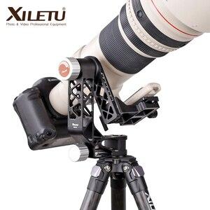 Image 3 - XILETU XGH 2 Pro Heavy Duty Aluminum alloy Gimbal Tripod Head Stabilizer Quick Release Plate for Telephoto Lens photography bird
