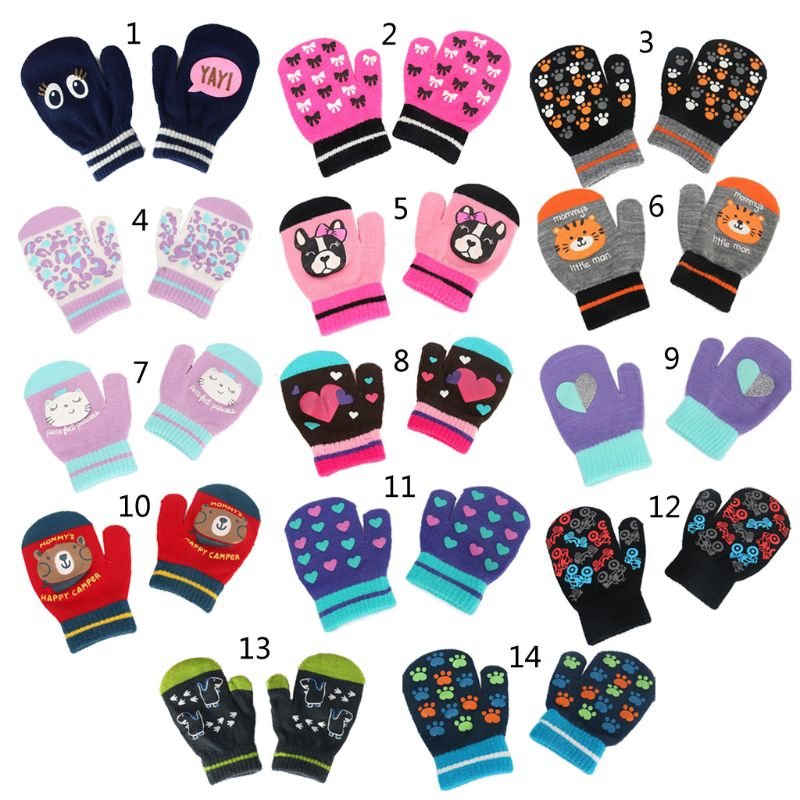 Baby Winter Warme Handschuhe Kinder Anti-Scratch Mittens Jungen Mädchen Voll Finger Handschuh