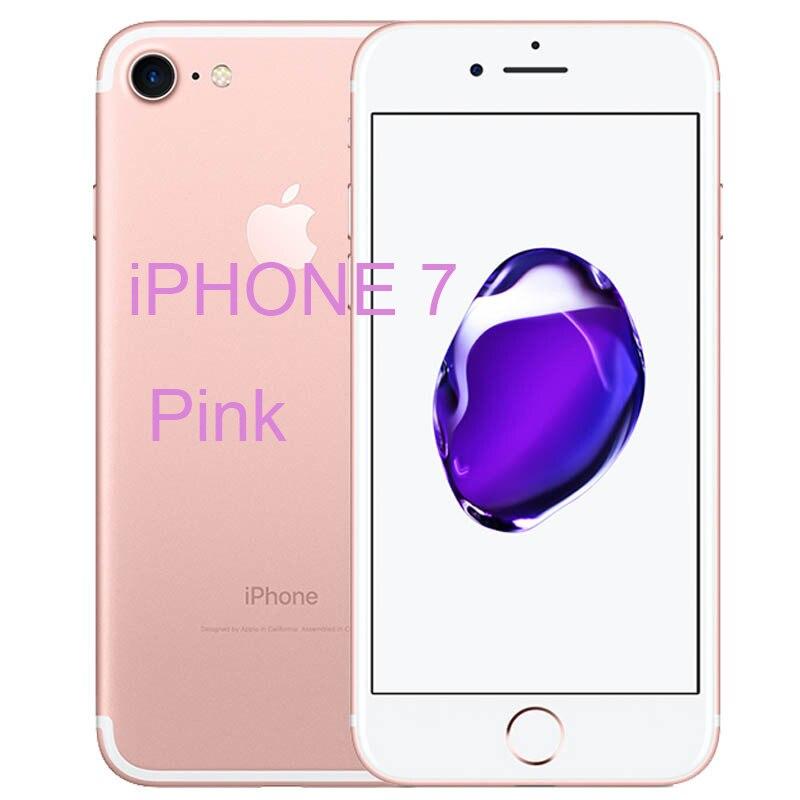 Разблокированный Apple iPhone 7/iPhone 7 Plus четырехъядерный мобильный телефон 12,0 МП камера 32G/128G/256G Rom IOS Телефон с отпечатком пальца - Цвет: iphone 7 Pink