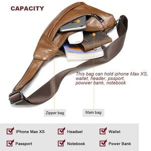 Image 3 - MVA Genuine Leather Bag Mens Crossbody Bag For Men Messenger Bags Men Leather Mens Shoulder/Chest Bags Small Chest Pack 7025