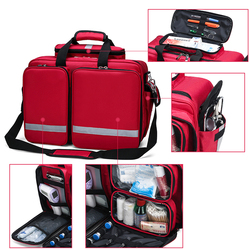 Bolsa médica de primeros auxilios, bolsa de nailon portátil multibolsillo, bolsa de emergencia de rescate médico, seguridad al aire libre, viaje familiar