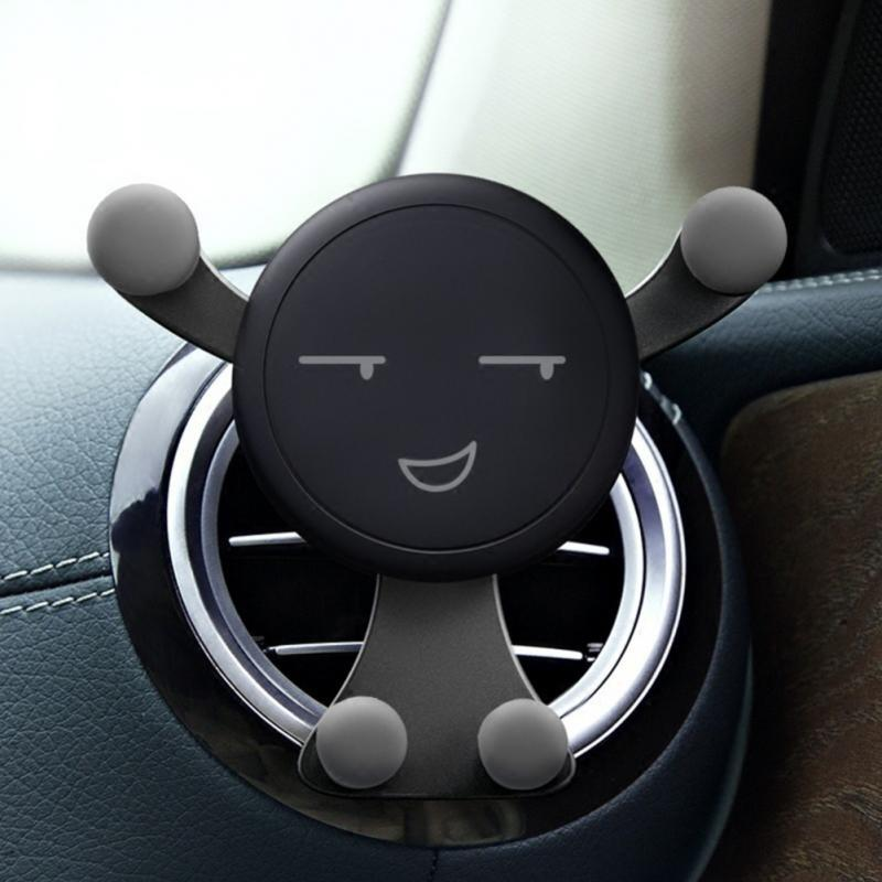 Universal Car Gravity Car Phone Holder Air Vent Mount Bracket For IPhone X Xiaomi No Magnetic Smartphone Auto Smile Face Support