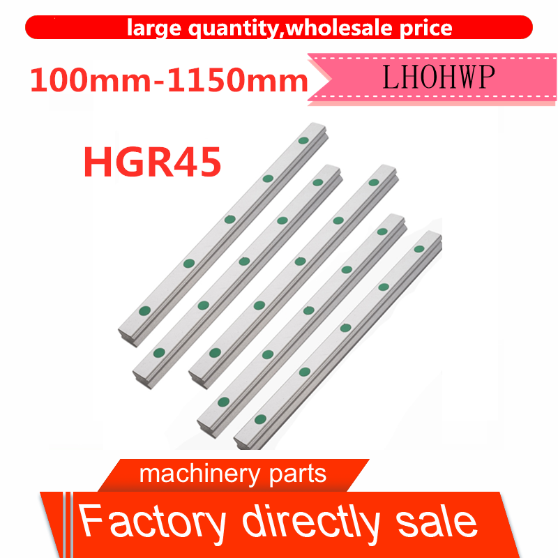 Free Shipping High Quality 100mm-1150mm HGR45 Square Linear Guideway Engraving HIWIN Slider Bracket CNC Engraving Machine