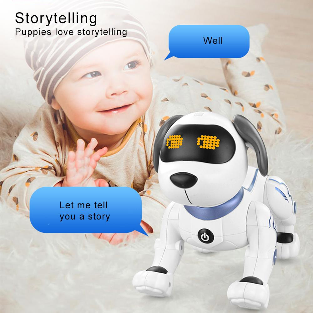 Child Robot Dog Pet Toy Interactive Smart Kids Robotic Pet Dog Dance Singing Stunt Programming Educational Toy Christmas Gift