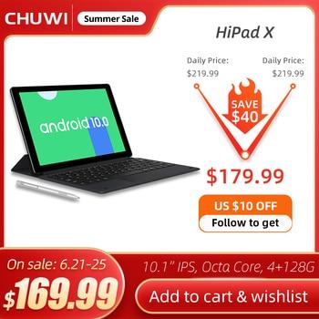 CHUWI HiPad X 10.1 Inch Android 10 Tablet PC MTK Octa Core LPDDR4X 4GB RAM 128G ROM Tablet 4G LTE GPS 1